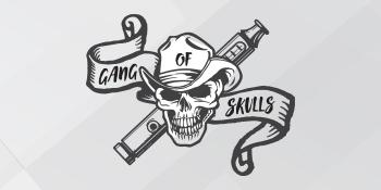 Logo of the Gang of Skulls Nicotine E-Liquid series