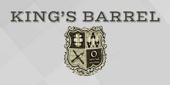 Logo of the King's Barrel Nicotine E-Liquid series