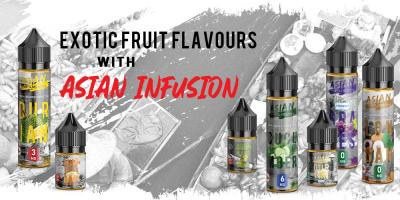 Nicotine Salt vs Freebase Nicotine. Enjoy Exotic Fruit Flavours With Asian Infusion E-liquids