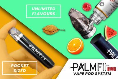 Palm Fit 2.0 - Pocket-Sized Vape Pod System with Unlimited Vape Flavours