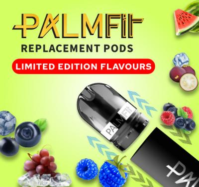 Best Flavours for the best vape pod. Palm Fit Closed Pod now with Limited Edition flavours