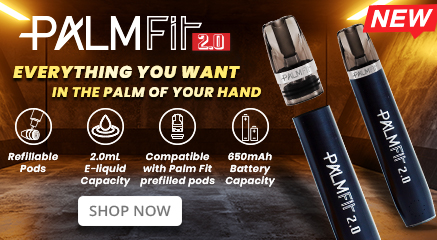Palm Fit 2.0 Refillable Vape Pod Kit Banner