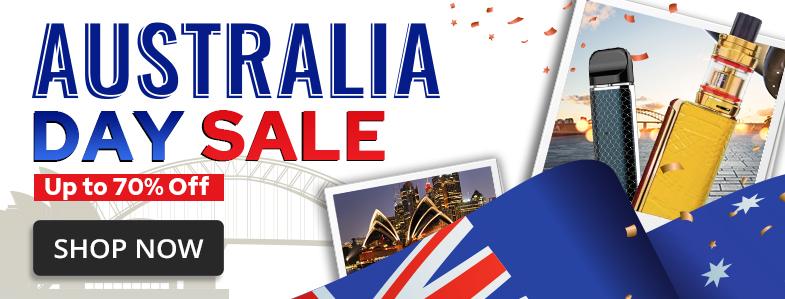 Australia Day Vape Sale 2021 Homepage Banner