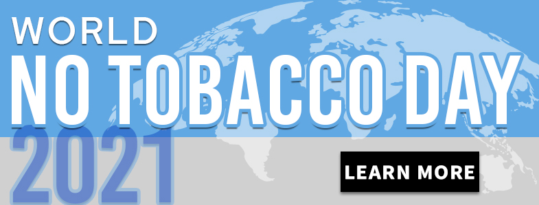World No Tobacco Day 2021 Homepage Banner