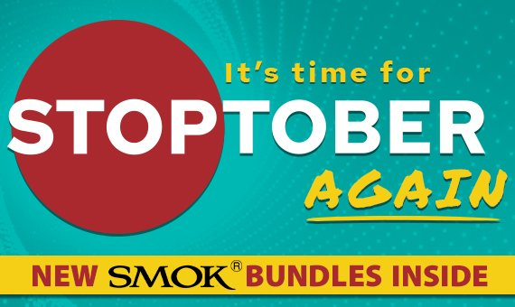 Stoptober 2020 Promotion With New SMOK Bundles Banner